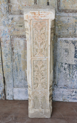 19th Century Sandstone Pillar with Ardash Plaster Detail<b>sold<b>